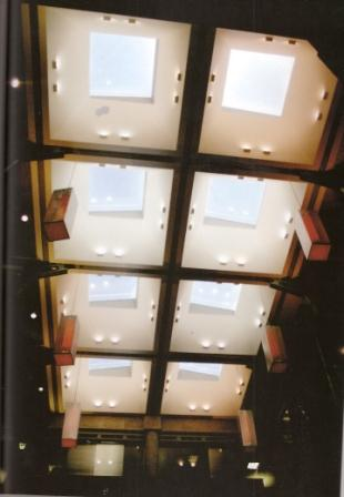 Hopper commemorated in skylights of central atrium