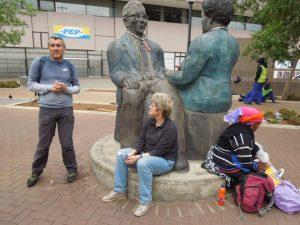 Gerald & Sisulu sculpture