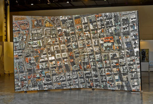 Marx's large scale mosaic wall depicting an aerial view of Joburg. Photo courtesy Unionhouse.co