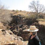 Looking down on the site of Swartkrans