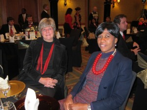 Liz and Catherine at the Lilizela Awards