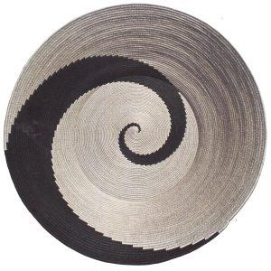Esta Zulu Spiralling Energy 2014 Woven sisal and grass 60 X 120 X 23 (Standard Bank Collection)