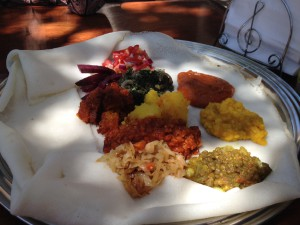 Delicious platter at Little Addis