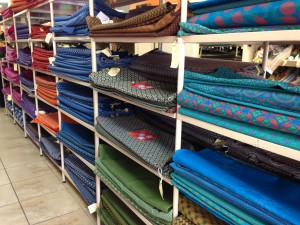 On of the many shops in Jozi inner city selling fab Sheshwe cloth